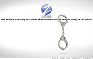Zeek Rewards Closed down - handcuff image